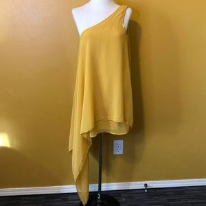 Skinny Bunny Gold One Shoulder Tunic Top, NWT, L